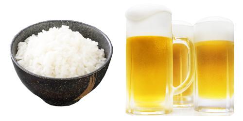 ご飯とビール